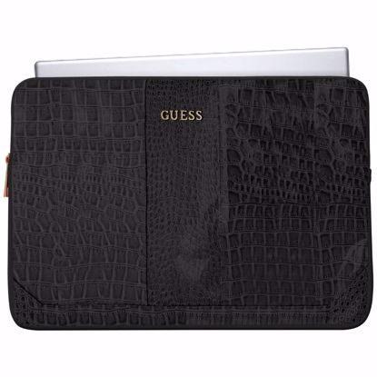 Picture of Guess Guess Croco 11 Inch Laptop Sleeve in Black