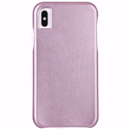 Picture of Case-Mate Case-Mate Barely There Leather Case for Apple iPhone XS Max in Metallic Blush