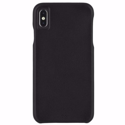 Picture of Case-Mate Case-Mate Barely There Leather Case for Apple iPhone XS Max in Black