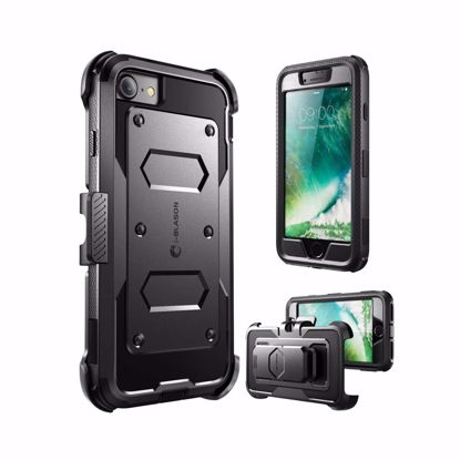Picture of i-Blason i-Blason ArmorBox Case with Built-In Screen Protector for Apple iPhone 7 in Black