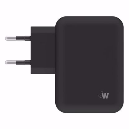 Picture of Just Wireless Just Wireless 4.2A EU Dual Mains Charger (No Cable) in Black