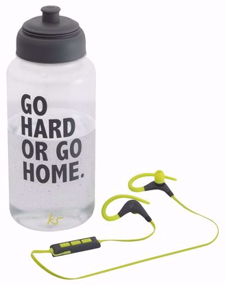 Picture of KitSound Kitsound Race Sport Bluetooth Headphones and Water Bottle
