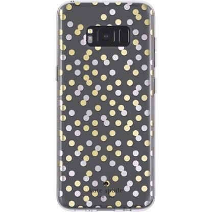 Picture of Kate Spade Kate Spade Hardshell Case for Samsung Galaxy S8+ in Clear/Gold/Silver
