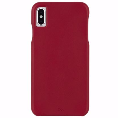 Picture of Case-Mate Case-Mate Barely There Leather Case for Apple iPhone XS/X in Cardinal