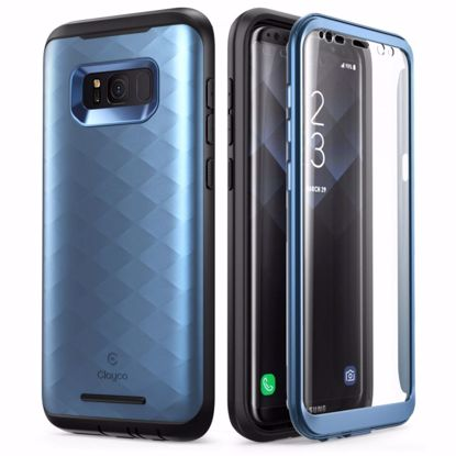 Picture of Clayco Clayco Hera Case with Built-In Screen Protector for Samsung Galaxy S8 in Blue