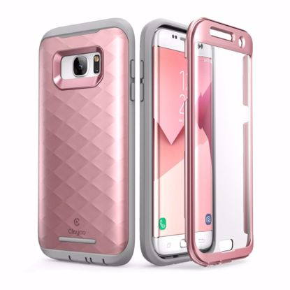 Picture of Clayco Clayco Hera Case with Built-In Screen Protector for Samsung Galaxy S7 Edge in Rose Gold