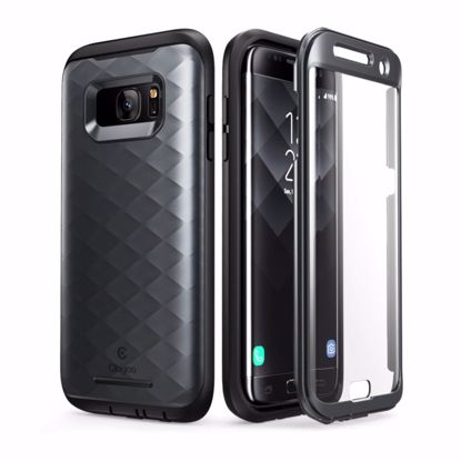 Picture of Clayco Clayco Hera Case with Built-In Screen Protector for Samsung Galaxy S7 Edge in Black