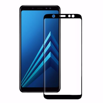 Picture of Eiger Eiger 3D GLASS Full Screen Glass Screen Protector for Samsung Galaxy A6 (2018) in Clear/Black