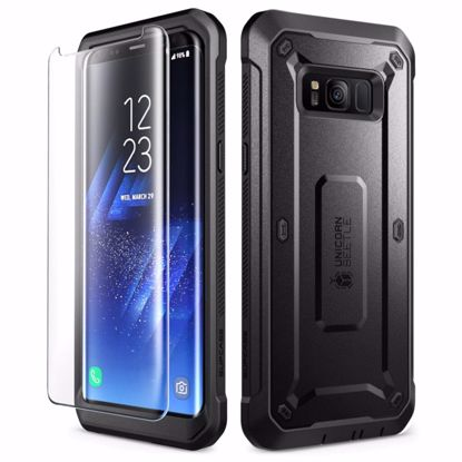 Picture of i-Blason i-Blason SUPCASE Unicorn Beetle Pro Case and Screen Protector for Samsung Galaxy S8 in Black