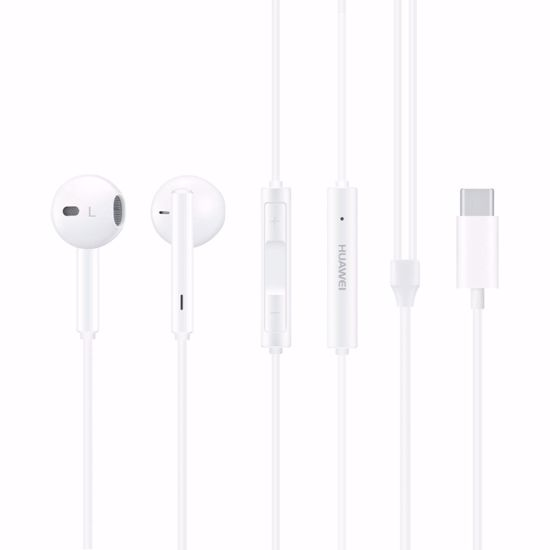 Picture of Huawei Huawei CM33 USB-C In-Ear Earphones with Mic and Remote in White