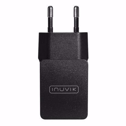 Picture of Inuvik Inuvik 2.1A EU 2 Pin USB Mains Charger in Black (No Cable)