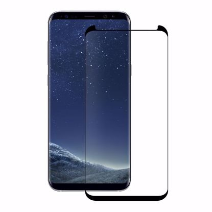 Picture of Eiger Eiger 3D GLASS Case Friendly Tempered Glass Screen Protector for Samsung Galaxy S8 in Clear/Black