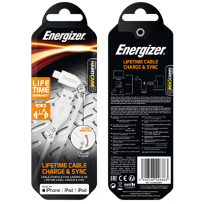 Picture of Energizer Lightning Cable - White