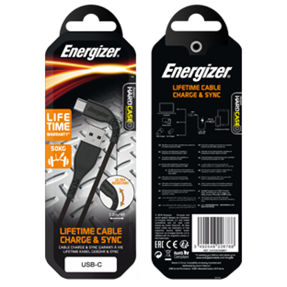 Picture of Energizer USB Type-C Cable - Black
