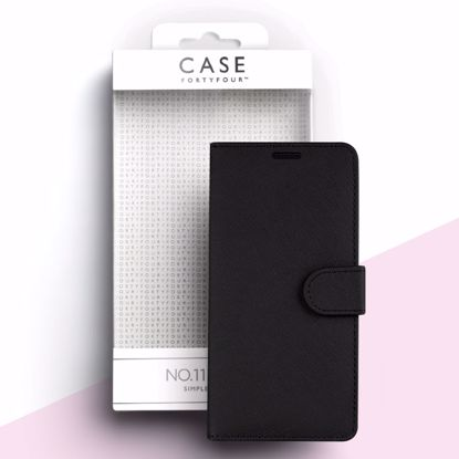 Picture of Case FortyFour Case FortyFour No.11 Case for Samsung Galaxy Note 10 in Cross Grain Black