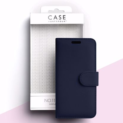 Picture of Case FortyFour Case FortyFour No.11 Case for Apple iPhone 11 Pro in Cross Grain Dark Blue