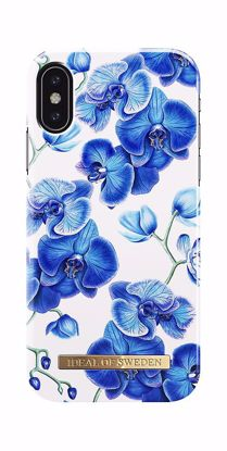Picture of iDeal Of Sweden iDeal Of Sweden Blue Orchids for Apple iPhone XS/X